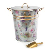 Mackenzie Childs Flower Market Lidded Ice Bucket And Scoop