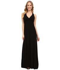 Hard Tail Twisty Back Maxi Dress Black Women's Clothing