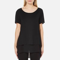 Polo Ralph Lauren Women's Scoop Neck Double Layer Top Black