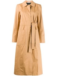 Tory Burch Belted Trench Coat Neutrals
