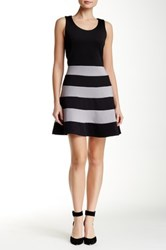Dex Striped Fit And Flare Dress Multi