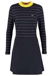 Lacoste Live Jersey Dress Marine Blanc Dark Blue