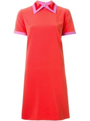 Roksanda Ilincic Roksanda Short Sleeve Shift Dress Pink And Purple