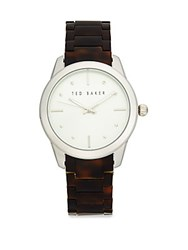 Ted Baker Round Analog Watch Silver