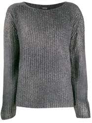 Avant Toi Ribbed Stitch Sweater Grey