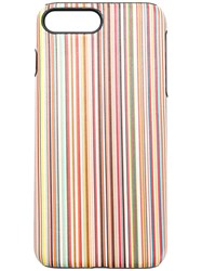 Paul Smith Black Label Striped Iphone 8 Plus Cover Nude And Neutrals