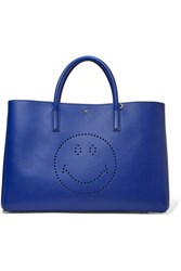 Anya Hindmarch Ebury Perforated Leather Tote Royal Blue