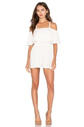 Rachel Pally Tobias Playsuit White