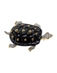 Kenneth Jay Lane Turtle Pin Gold