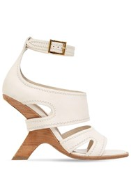 Alexander Mcqueen 90Mm Leather Sandals Off White