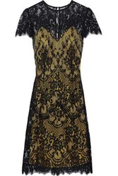 Catherine Deane Woman Cotton Blend Lace Dress Mustard