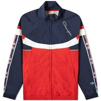 Champion Reverse Weave Taped Colour Block Track Top Red