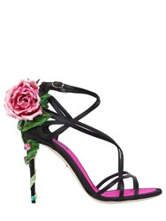Dolce And Gabbana 105Mm Keira Rose Satin Sandals