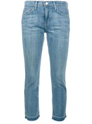 Current Elliott Stretch Cropped Jeans Blue