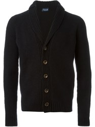 Drumohr Shawl Collar Cardigan Black