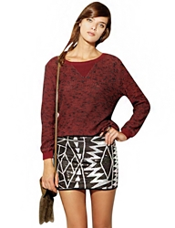 Pixie Market Sequin Tribal Mini Skirt