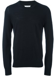 Maison Martin Margiela Classic Crew Neck Sweater Blue