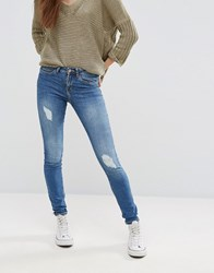 Noisy May Lucy Destroy Jeans Medium Blue Denim