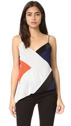 Diane Von Furstenberg Kaelani Sequin Cami Canvas White Midnight Orange B