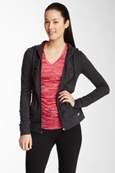 The Balance Collection Marika Magic Ruched Zip Hoodie Gray