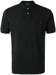 Polo Ralph Lauren Logo Embroidered Shirt Men Cotton S Black