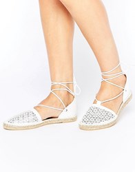 New Look Laser Cut Espadrille White