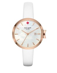 Kate Spade Park Row Mother Of Pearl Dial Analog Watch White