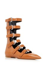 Red Valentino Buckled Flat Brown