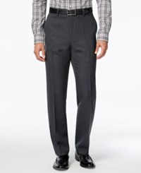 Alfani Men's Charcoal Flat Front Pants Classic Fit