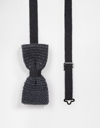 Minimum Knitted Bow Tie Grey