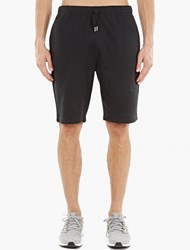 Sunspel Black Cotton Jersey Shorts