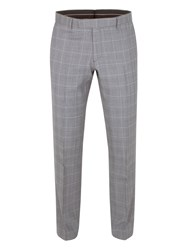 Alexandre Of England Vincent Tailored Fit Check Trouser Grey