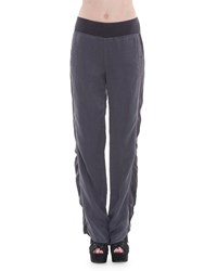 Xcvi Sirena Straight Leg Twill Pants Falcon