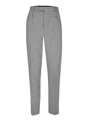 Topman Grey Design Black And White Gingham Smart Trousers