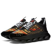 Versace Printed Chain Reaction Sneaker Black
