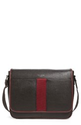 Ted Baker Men's London Biggsy Messenger Bag Brown Chocolate