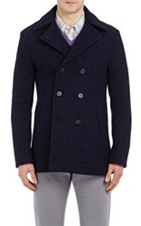 Aquascutum London Men's Henward Toggle Coat Navy