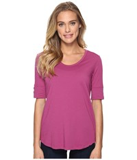 Royal Robbins Merinolux V Neck Tee Aster Women's T Shirt Purple