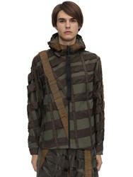 Christopher Raeburn Remade Airbreak Cotton And Nylon Anorak Green
