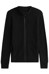 Dolce And Gabbana Cashmere Zip Front Cardigan Black