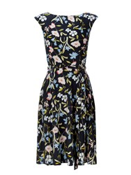 Wallis Petite Floral Fit And Flare Dress Multi Coloured