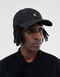 Element Fluky Dad Cap With Small Logo In Black