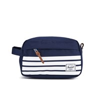 Herschel Men's Chapter Peacoat Offset Travel Kit Navy White