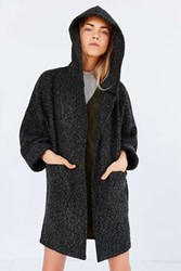 Bdg Alessi Boucle Relaxed Hooded Coat Black Multi