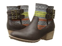 Caterpillar Casual Willa Canvas Mulch Tribal Women's Boots Brown