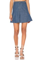 Wayf Swing Skirt Blue