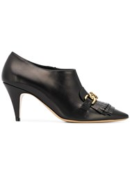 Tod's Fringed Pointed High Heels Black