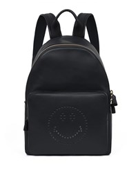 Smiley Leather Backpack Black Anya Hindmarch