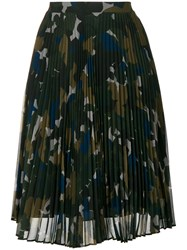 Paul Smith Ps By Plissee Skirt Camouflage Color Multicolour