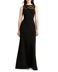 Ralph Lauren Sequin Detail Gown Black